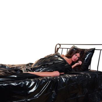 Lack Bettdecke schwarz