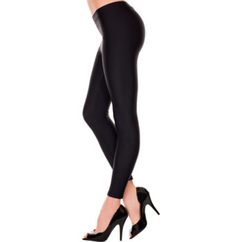 Basic-Leggings, lang - Schwarz