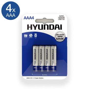 Super Alkaline AAA Batterien - 4 Stück