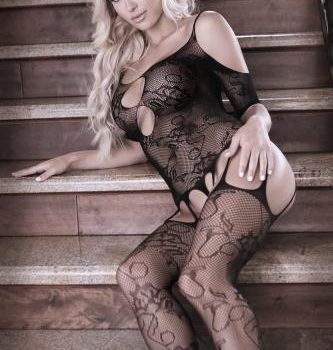 Aphrodite Straps-Catsuit mit Schulterausschnitt