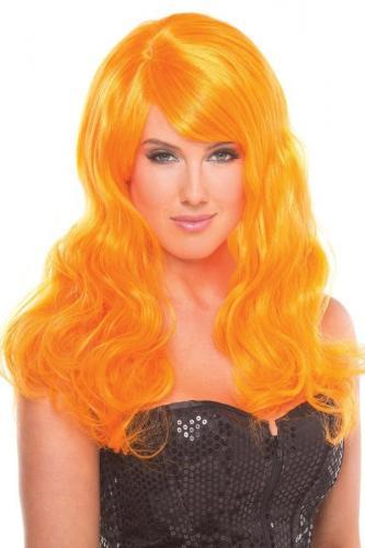 Burlesque-Perücke - Orange