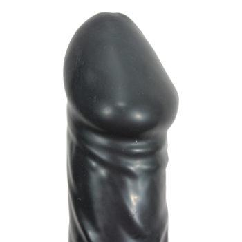 Black Giant Latex Aufblasbarer Dildo