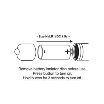 Single Speed Bullet Vibrator - Champagner