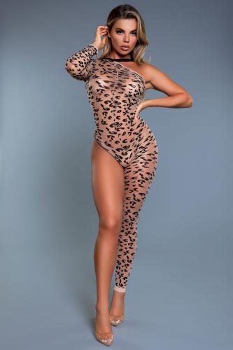 Fiercely Wild Catsuit - Leopard