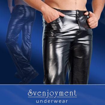 Hose aus Kunstleder in Schwarz