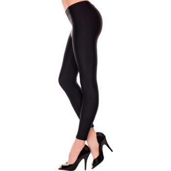 Basic-Leggings, lang - Schwarz