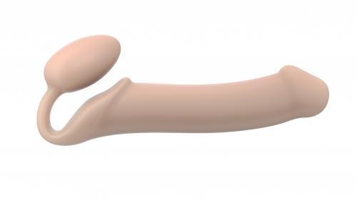 Strap On Me - Halterloser Strap-on Dildo - Größe XL - Beige