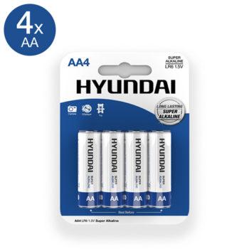 Super Alkaline AA Batterien - 4 Stück