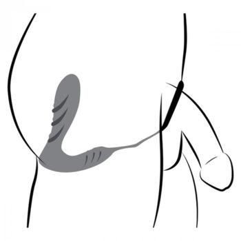 Prostatavibrator aus Silikon und Band mit Fernbedienung