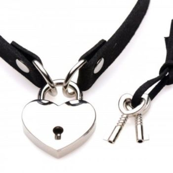 Lock-It Herz-Halsband mit abschließbarem Herz