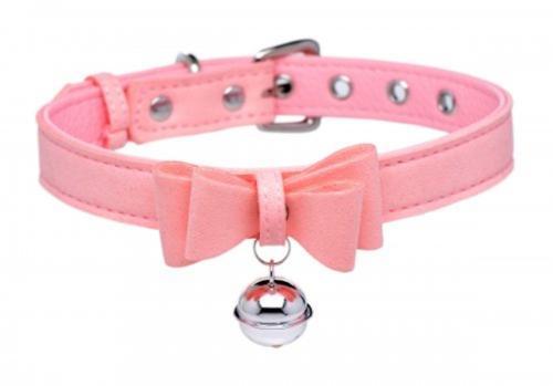 Golden Kitty Halsband mit Katzenglocke - Rosa