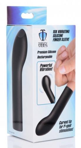 Vibrierender Silikon-Finger-Prostata-Stimulator