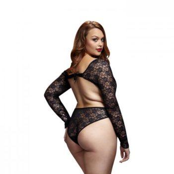 Baci - Spitzen-Bodysuit mit offenem Rücken - Für Kurven