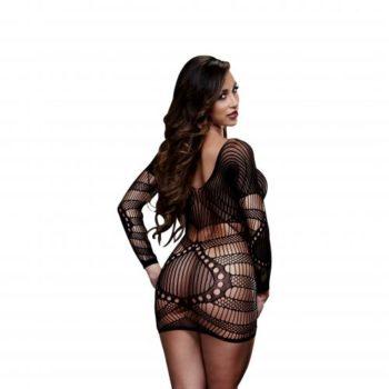 Baci - Sexy Kleid mit langen Ärmeln - Schwarz