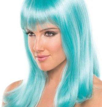 Hollywood-Perücke - Wasserblau