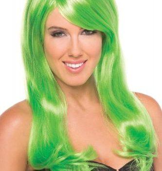 Burlesque-Perücke - Grün