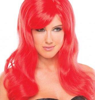 Burlesque-Perücke - Rot