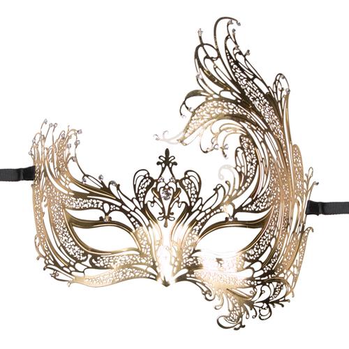 EasyToys – Durchbrochene venezianische Maske in Gold