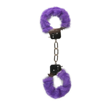 Plüschige Handschellen - Violett