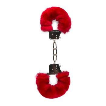 Plüschige Handschellen - Rot
