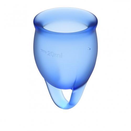 Fühlen Sie sich sicher Menstruationstasse - Blau