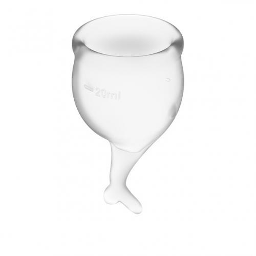 Fühlen Sie sich sicher Menstruation Cup Set - Transparent