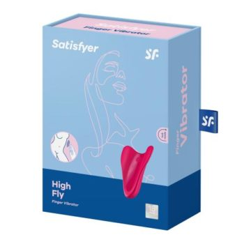 Satisfyer High Fly Fingervibrator - Rot