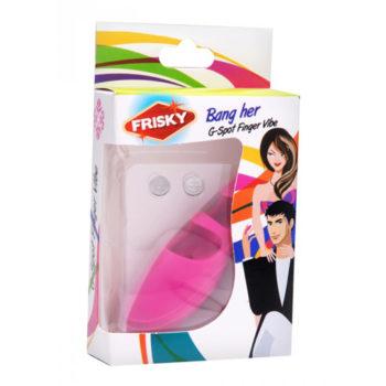 G-Punkt Fingervibrator aus Silikon in Pink