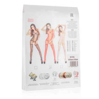 Roter Netz-Catsuit ouvert