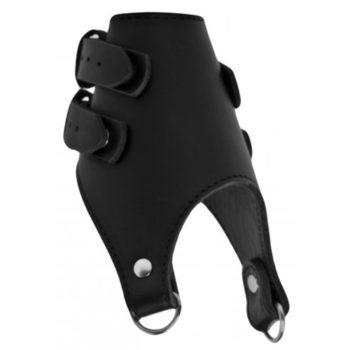 Stramm sitzender Ballstretcher aus Leder mit doppeltem Gewicht