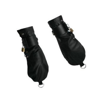 Enge Bondage-Handschuhe aus Leder